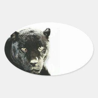 Pegatina negro del óvalo de la pantera de Jaguar