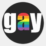Pegatina negro gay