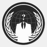 Pegatina negro internacional anónimo