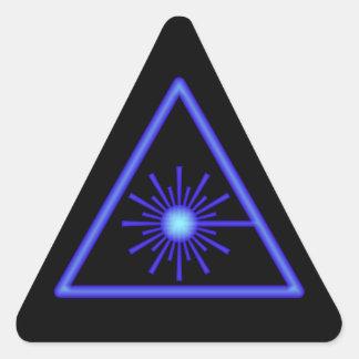 Pegatina negro y azul de la advertencia de laser