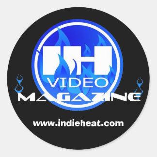 Pegatina negro y azul de la revista video del