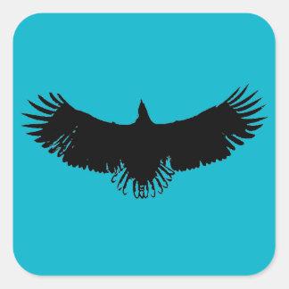 Pegatina negro y azul de las ilustraciones de la