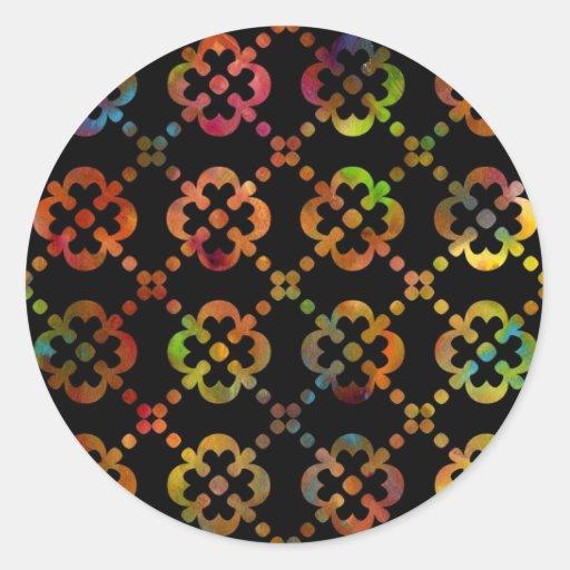 Pegatina negro y blanco del lunar del arco iris