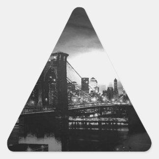 Pegatina negro y blanco del triángulo del