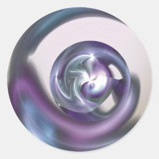 Pegatina Nestled de la esfera