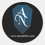 Pegatina Noir azul del logotipo