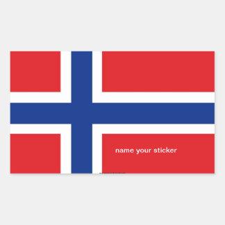 Pegatina noruego de la bandera de Noruega