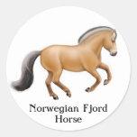 Pegatina noruego del caballo del fiordo