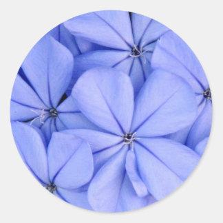 Pegatina nupcial de la ducha de la flor azul