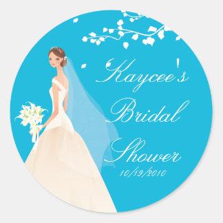 Pegatina nupcial de la ducha de la novia elegante