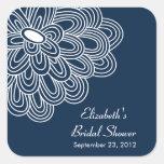 Pegatina nupcial del favor de la ducha de la flor