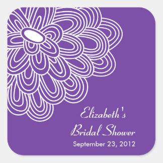 Pegatina nupcial del favor de la ducha de las flor