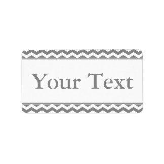 Pegatina o etiqueta gris y blanco con el texto de  etiqueta de dirección