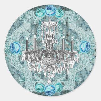 Pegatina o sello azul de Bella Marie Antonieta