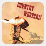 Pegatina occidental del país