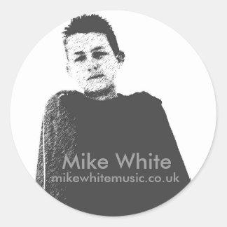 Pegatina oficial blanco de Mike