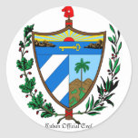 Pegatina oficial cubano del sello