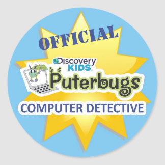 Pegatina oficial del detective del ordenador