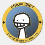 Pegatina oficial del idiota