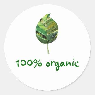 Pegatina orgánico del 100%