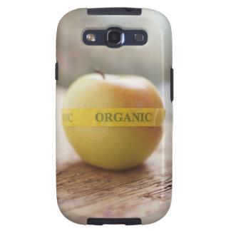 Pegatina orgánico en manzana galaxy s3 cobertura