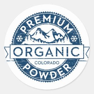 Pegatina orgánico superior del polvo de Colorado