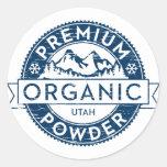 Pegatina orgánico superior del polvo de Utah