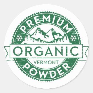 Pegatina orgánico superior del polvo de Vermont
