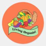 Pegatina orgánico vivo