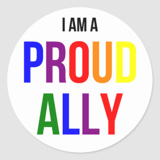 Pegatina orgulloso del aliado