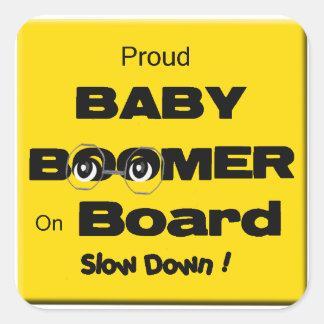 Pegatina orgulloso del nacido en el baby boom a