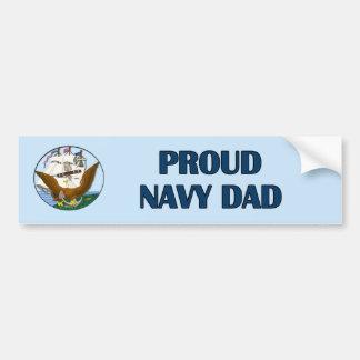 Pegatina orgulloso del Papá-Parachoque de la marin Pegatina Para Auto