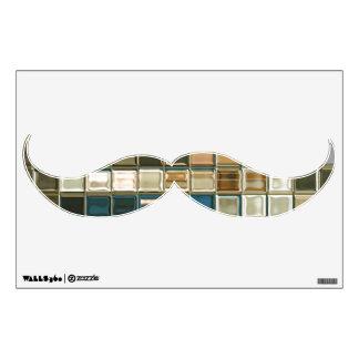 Pegatina original de la pared del bigote del arte vinilo decorativo
