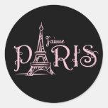 Pegatina (oscuro) de J'aime París