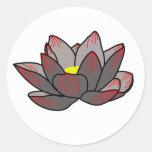 Pegatina oscuro de Lotus