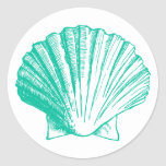 Pegatina oscuro de Shell del mar de la aguamarina