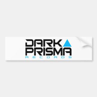 Pegatina oscuro del blanco del Prisma Etiqueta De Parachoque