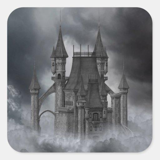Pegatina oscuro del castillo
