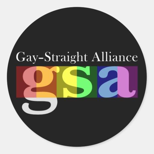 Pegatina oscuro redondo clásico de GSA