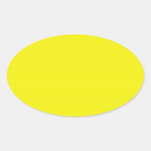 Pegatina oval amarillo brillante