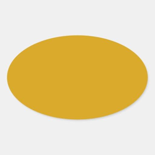 Pegatina oval anaranjado