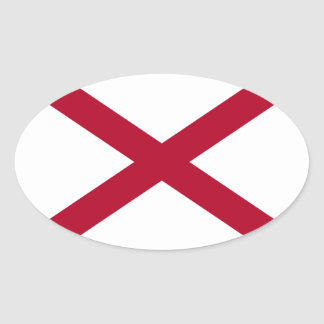 Pegatina oval de la bandera de Alabama