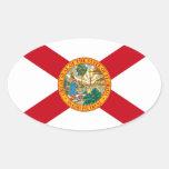 Pegatina oval de la bandera de la Florida