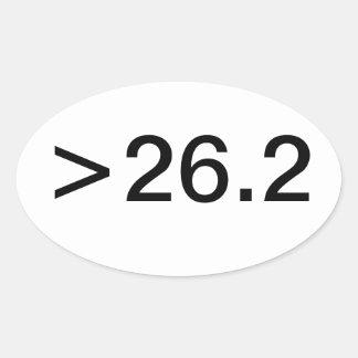 Pegatina oval de la milla >26.2