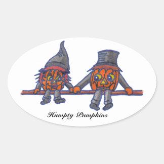 Pegatina oval de las calabazas de Humpty…