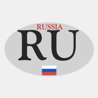 Pegatina oval del automóvil de Russia*