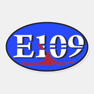 Pegatina oval del euro E109