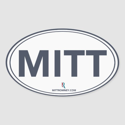 Pegatina oval del mitón de Romney Ryan