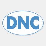 Pegatina oval en blanco, hoja de DNC de cuatro
