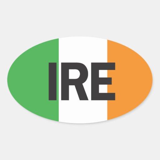 Pegatina oval euro del coche de Irlanda